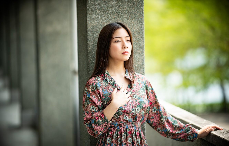 Photo wallpaper girl, portrait, Asian