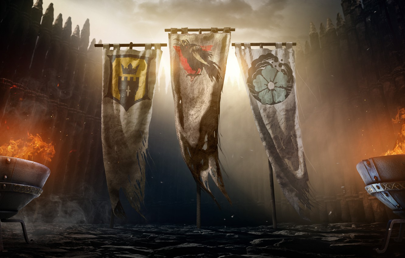 Photo wallpaper Flags, Ubisoft, For Honor, Faction