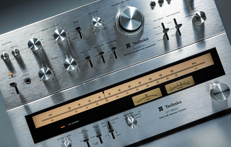 Photo wallpaper Tuner, Amplifier, Stereo, Technics, SUST 3500