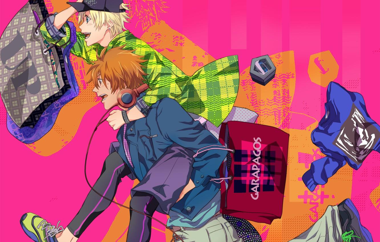 Photo wallpaper anime, art, running, guys, Uta no Prince-sama