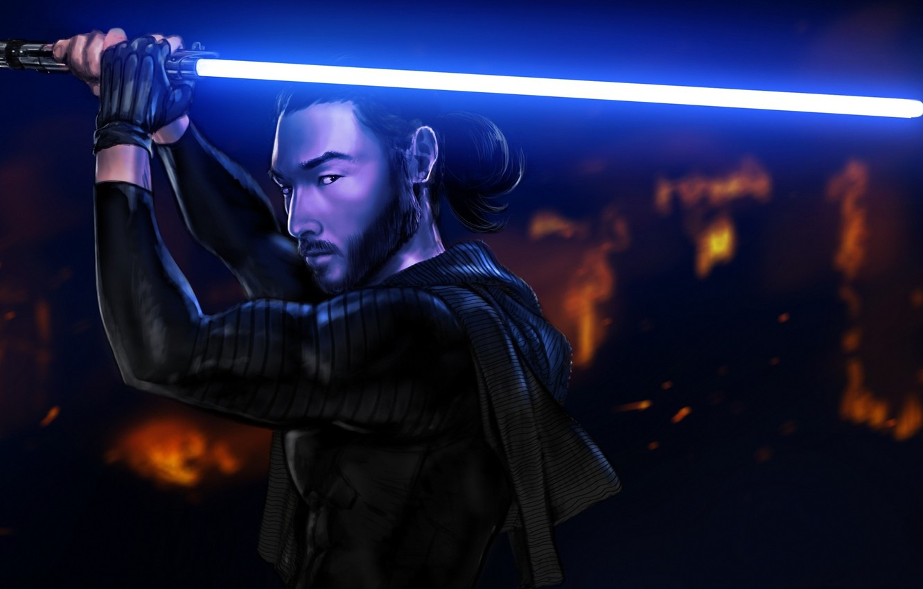 Wallpaper Male Star Wars Art Lightsaber Jedi Asian Images For Desktop Section Fantastika Download