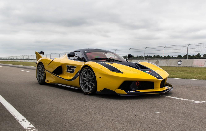 Wallpaper Ferrari, Yellow, Sport, FXXK images for desktop ...