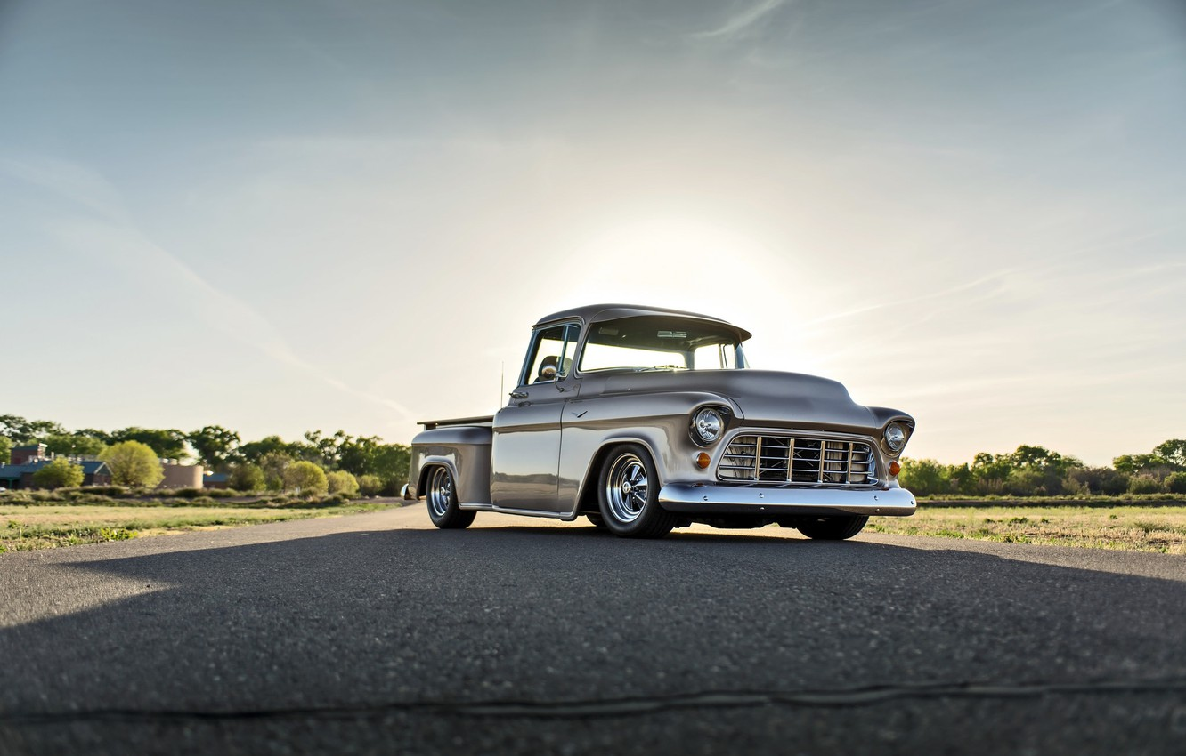 Photo wallpaper Chevrolet, Old, Picup