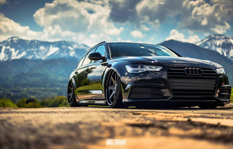 Photo wallpaper Audi, Auto, Black, Audi, Machine, Car, The front, Audi A6, German, Mike Crawat Photography, Mike …