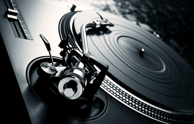 Photo wallpaper vinyl, record player, turntable