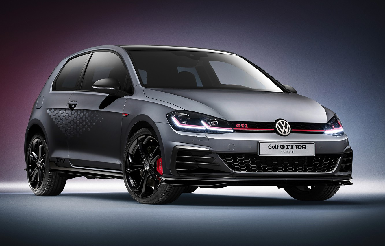 Photo wallpaper Concept, grey, Volkswagen, Golf, GTI, 2018, TCR