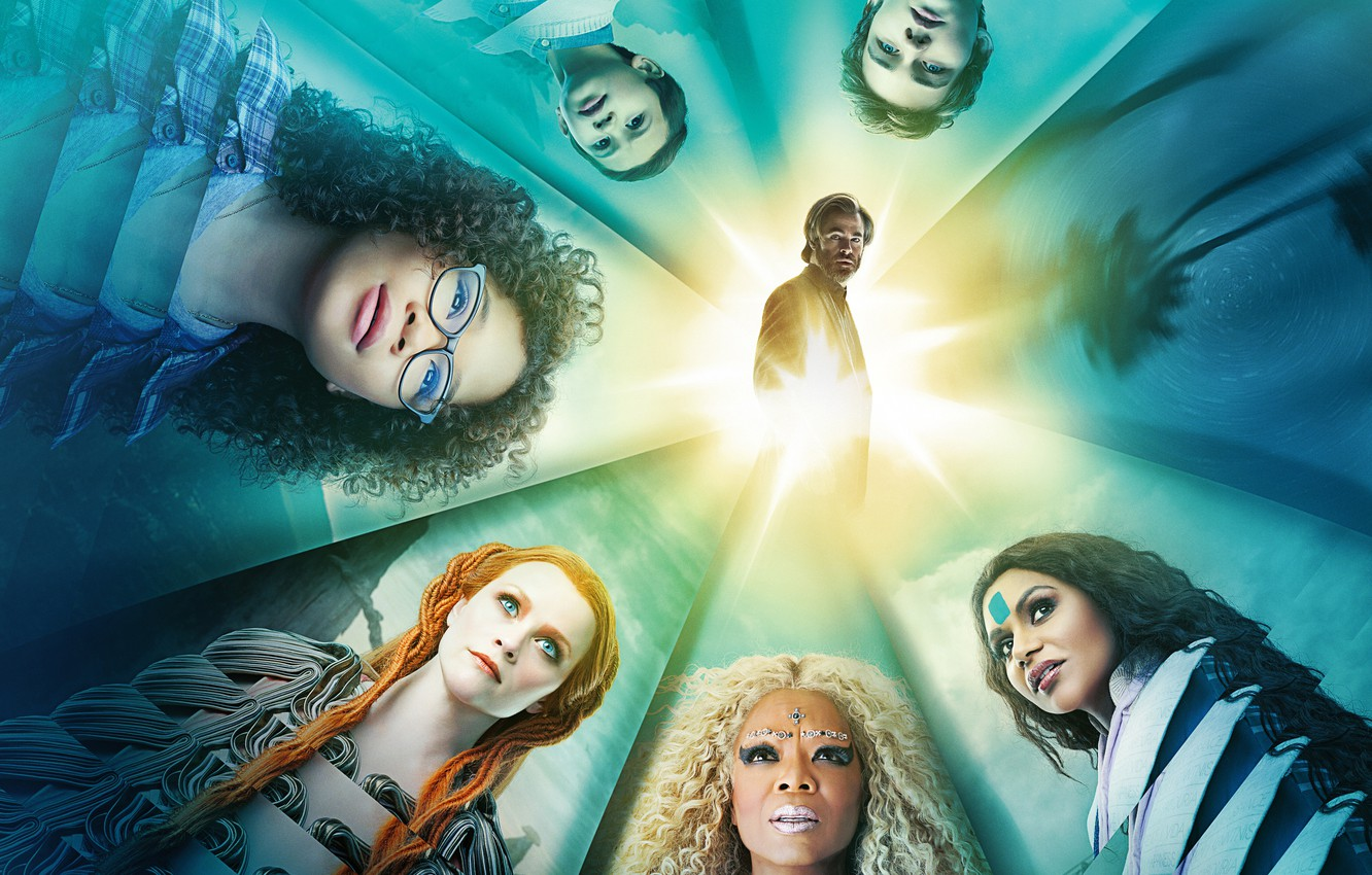 Photo wallpaper fiction, fantasy, poster, Chris Pine, Chris Pine, Reese Witherspoon, Reese Witherspoon, A Wrinkle in Time, ...