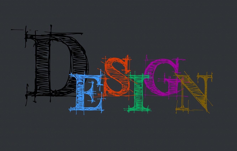 Photo wallpaper design, letters, design, the word