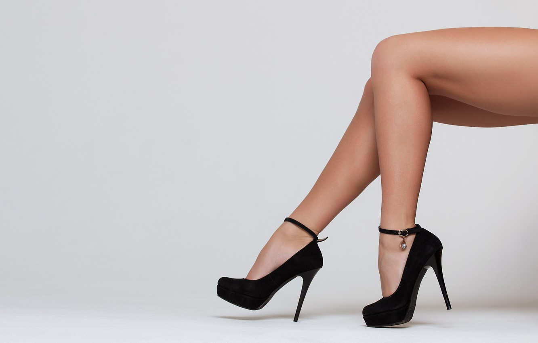 Photo wallpaper black, legs, heels