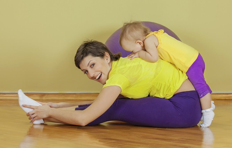 Photo wallpaper beauty, workout, fitness, yoga, leggings, health, exercises, crossfit, pilates, activewear