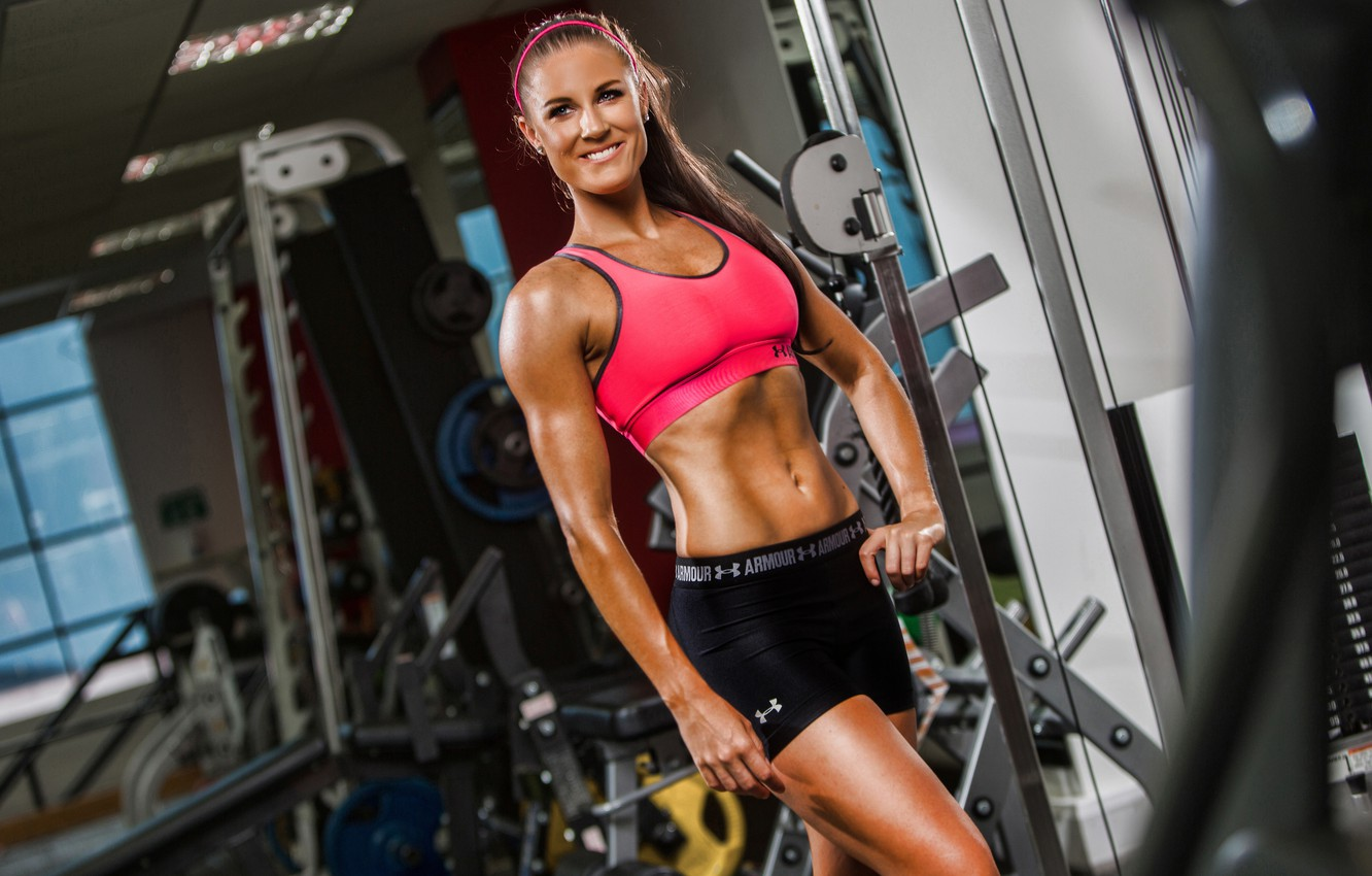 Photo wallpaper smile, workout, fitness