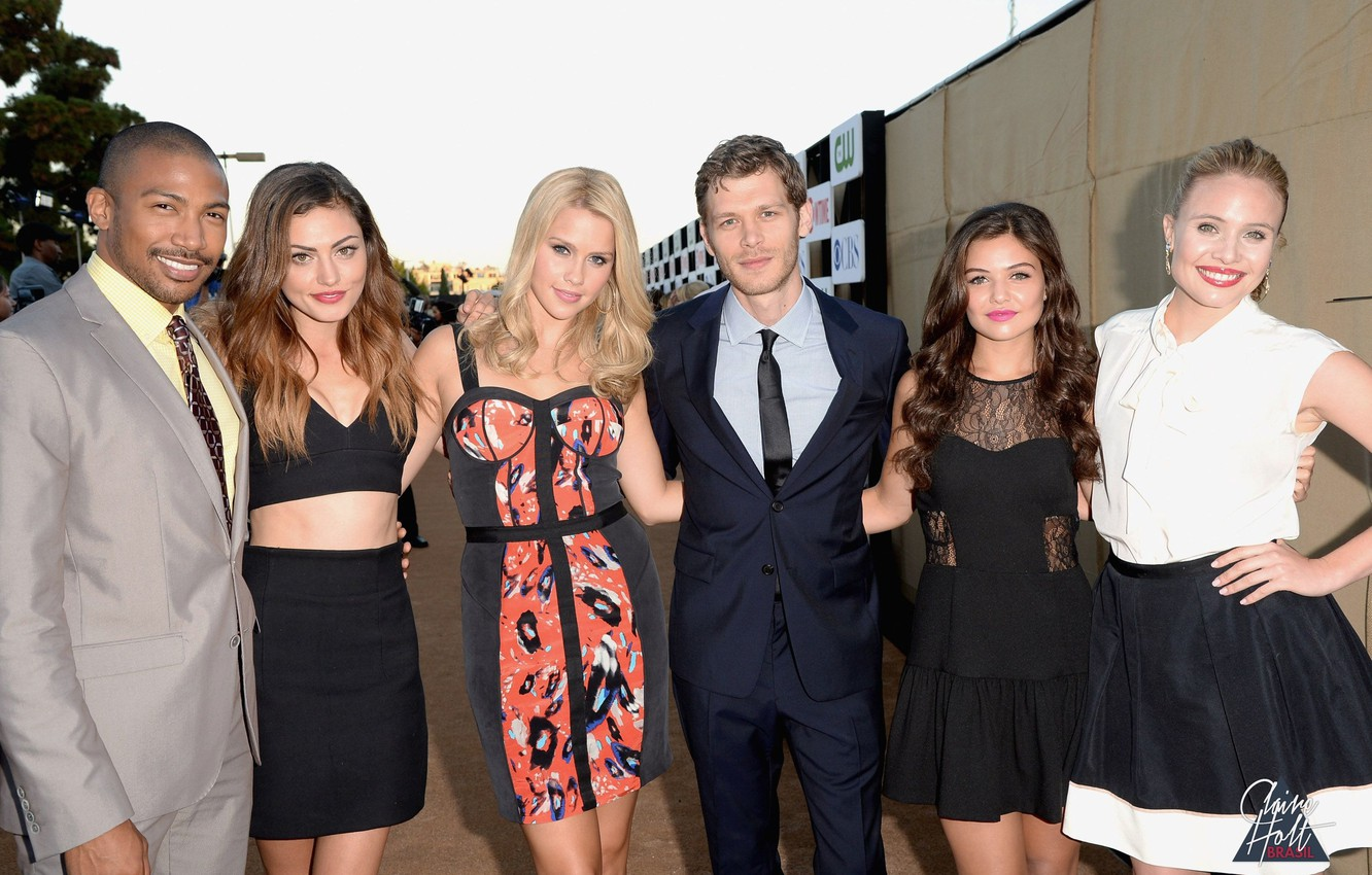 Photo wallpaper photo, Joseph Morgan, Joseph Morgan, Phoebe Tonkin, Phoebe Tonkin, Claire Holt, Charles Michael Davis, The ...