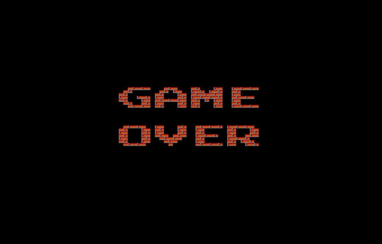 Photo wallpaper Minimalism, The game, Retro, Game, Game over, Zastava, Over, Tanchiki, Battle City X