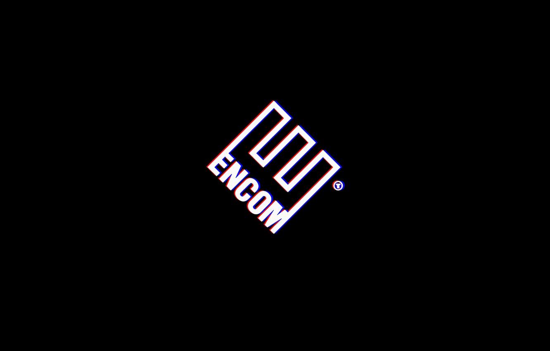 Photo wallpaper logo, tron legacy, tron, encom