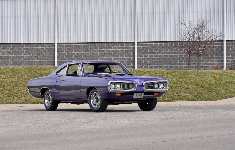 Photo wallpaper Dodge, Purple, 1970, Coronet, Old, Super Bee