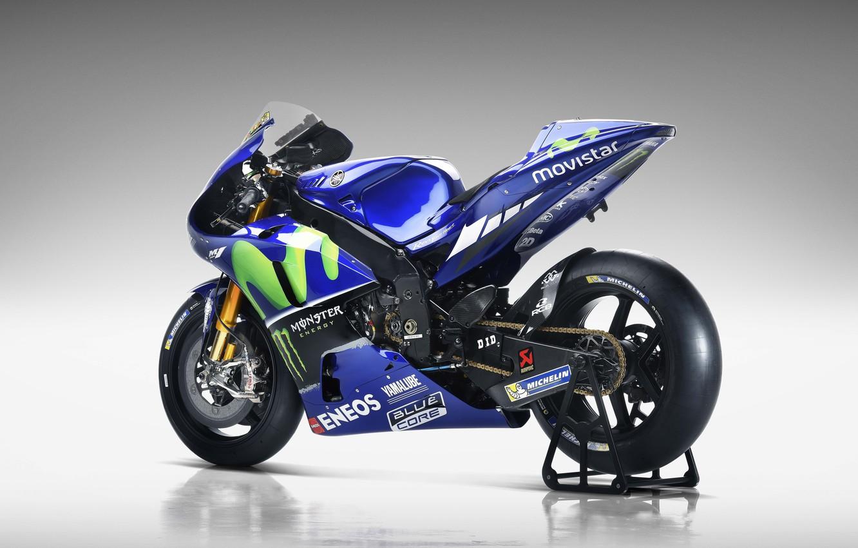 Photo wallpaper Yamaha, blue, Monster Energy, Michelin, moto GP, Yamaha yzr M1, Eneos, Movistar, Blue Core