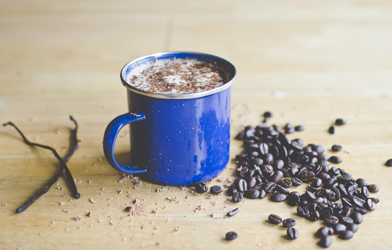 Photo wallpaper coffee, Cup, grain