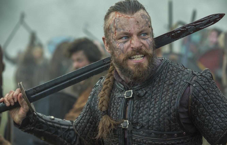 Wallpaper Actor Men Vikings Tv Series Peter Franzén