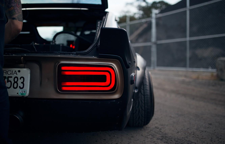 Photo wallpaper Datsun, man, classic, JDM, 240Z, S30, tail light
