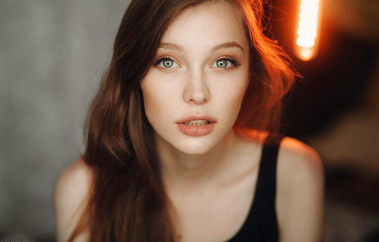 Photo wallpaper eyes, look, girl, light, portrait, photographer, Kristina, Evgeny Freyer, Christina Vostruhina