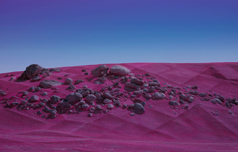 Photo wallpaper sand, landscape, stones, desert