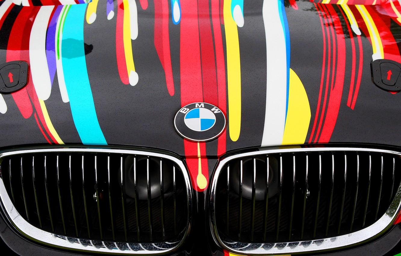 Wallpaper Color Auto Vinyl Bmw Sport Machine Logo Grille Bmw