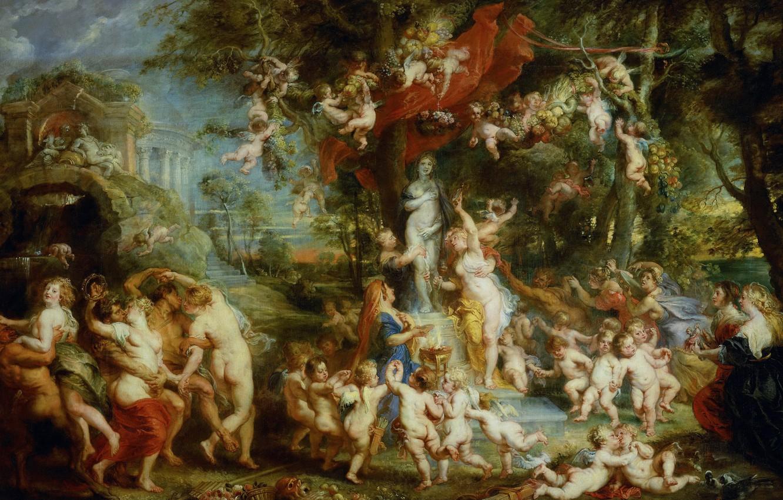 Photo wallpaper picture, Peter Paul Rubens, mythology, Pieter Paul Rubens, The Feast Of Venus