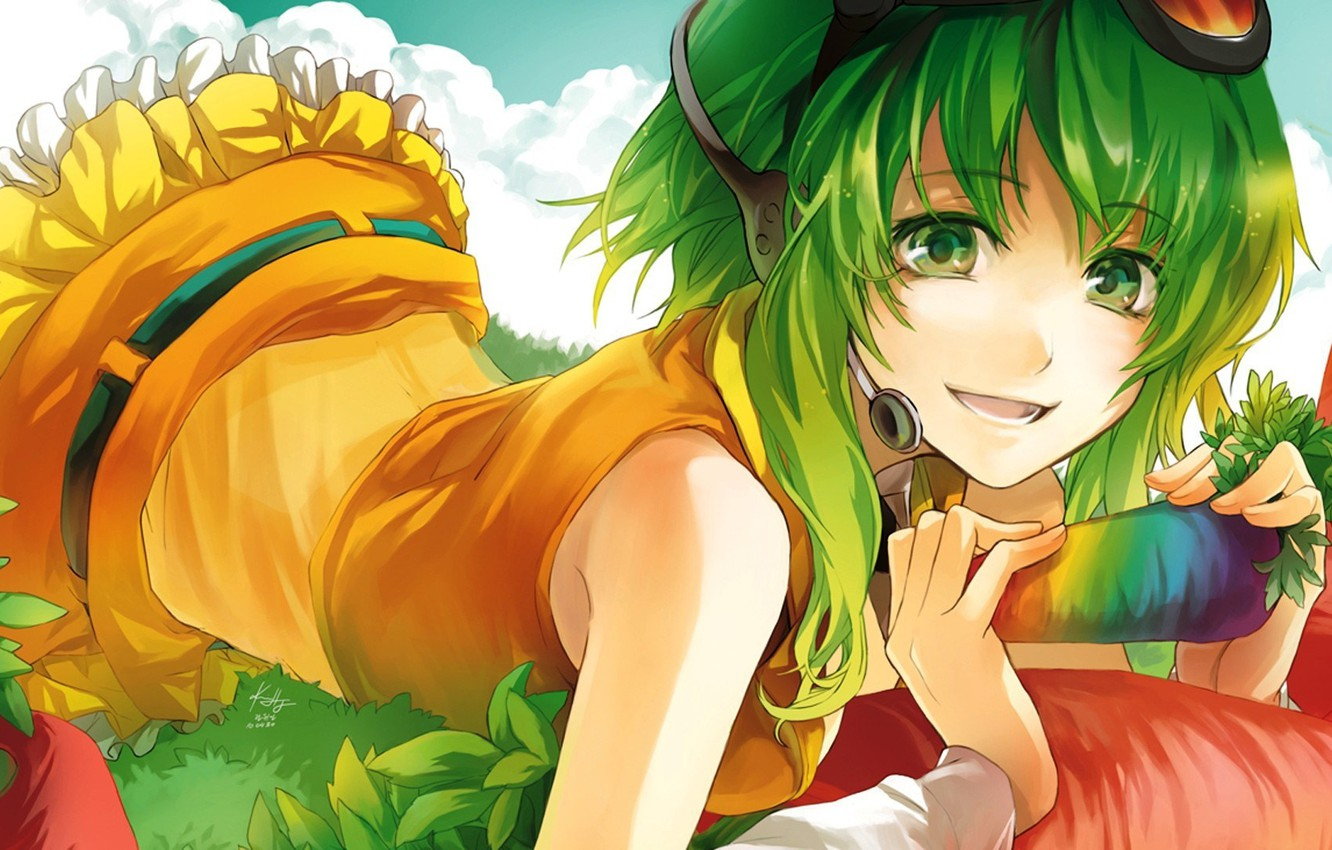 Photo wallpaper girl, nature, music, anime, vocaloid, Vocaloid, Megpoid