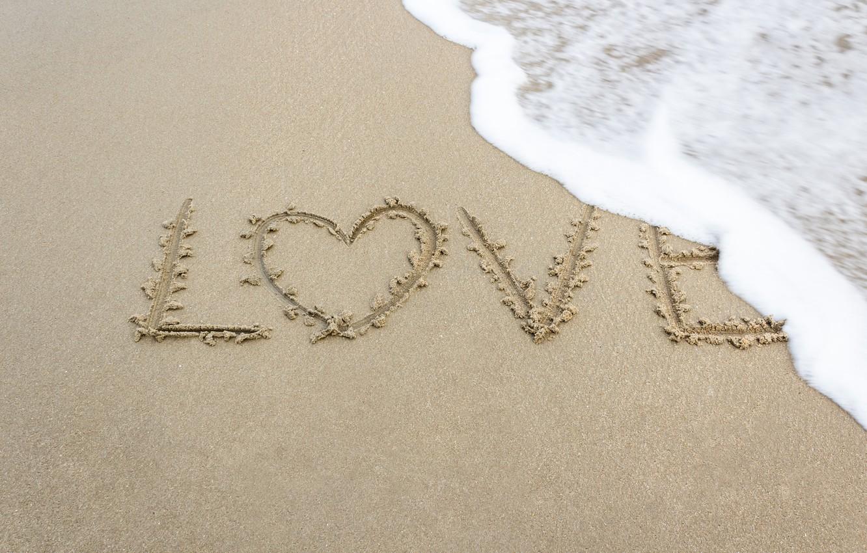 Photo wallpaper sand, sea, wave, beach, summer, love, heart, summer, love, beach, sea, heart, romantic, sand