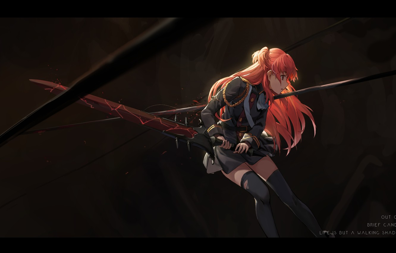 Wallpaper Girl Weapons Blood Sword Anime Form Wound Shuang