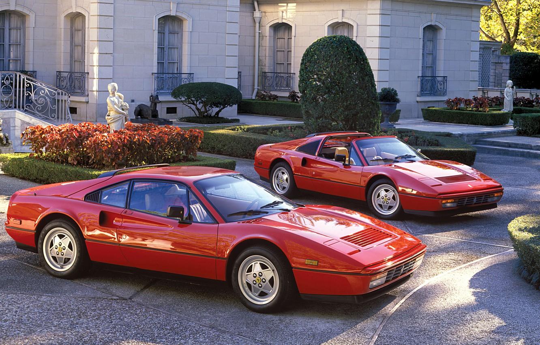 Photo wallpaper Jaguar, Red, Ferrari, Car, 328, Metallic, 1985-89