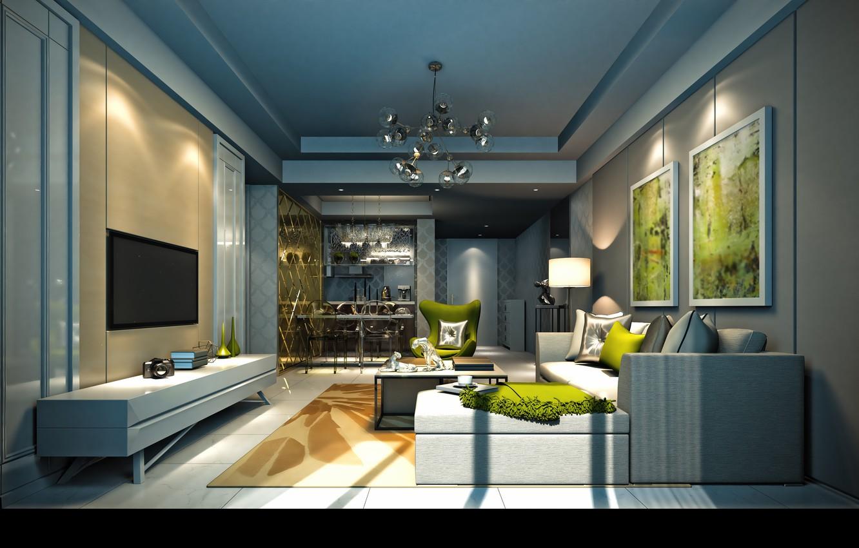 Photo wallpaper furniture, interior, living room, interior