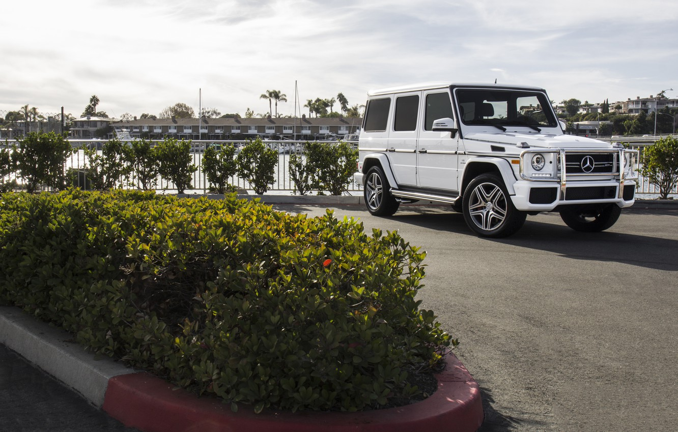 Photo wallpaper Mercedes, AMG, White, G63