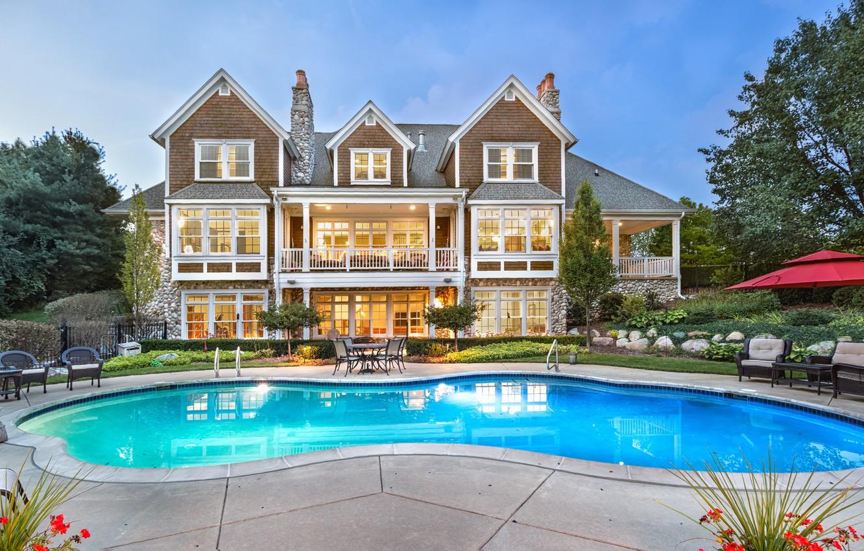 Photo wallpaper design, house, Villa, pool, architecture, mansion