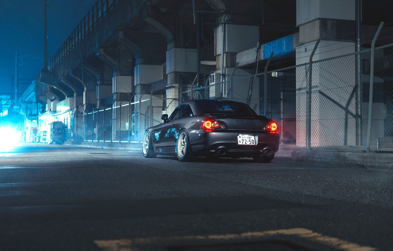 Photo wallpaper Honda, Car, Night, S2000, Sport, Rear