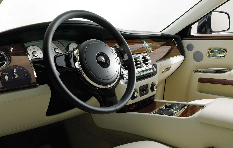 Photo wallpaper Rolls-Royce, the wheel, salon, 200EX