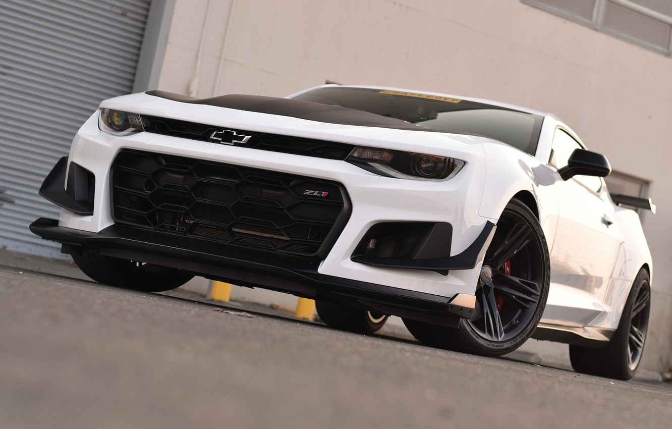 Photo wallpaper Chevrolet, Camaro, White, ZL1