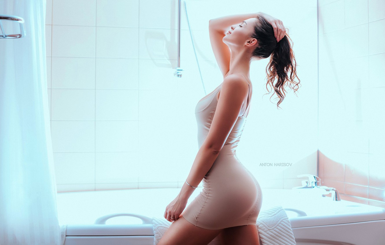 Photo wallpaper pose, hair, figure, bath, Anton Kharisov, Elizabeth Cotton
