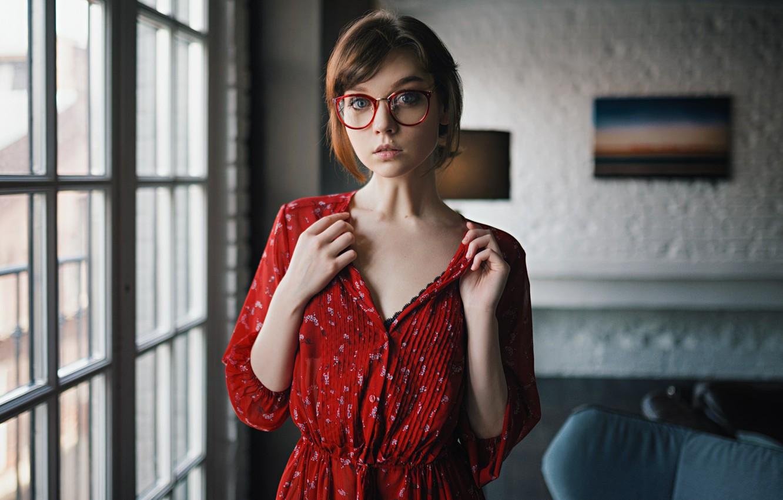 Photo wallpaper look, glasses, Olga Pushkina, Sergey Fat, Sergey Zhirnov