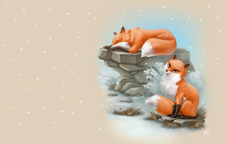 Photo wallpaper art, Fox, children's, SveslaTasla