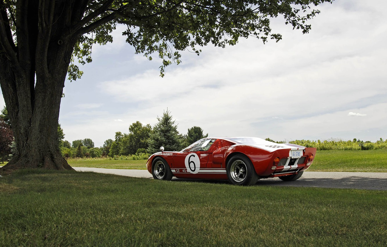 Photo wallpaper Ford, Red, GT40