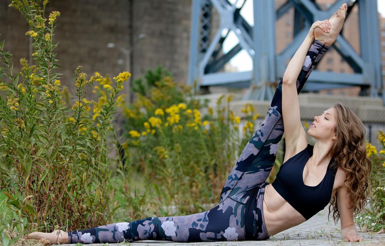 Photo wallpaper girl, flexibility, legs
