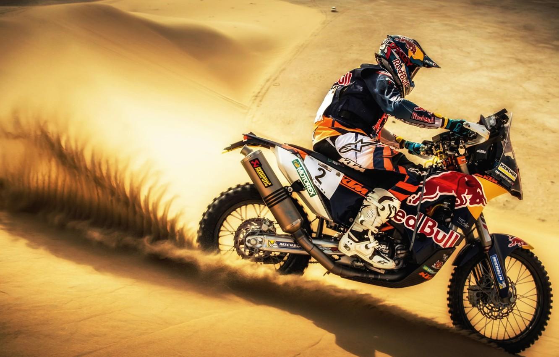 Photo wallpaper Sand, Sport, Desert, Speed, Motorcycle, Racer, Moto, KTM, Bike, Rally, Dakar, Dakar, Rally, Moto, Motorbike