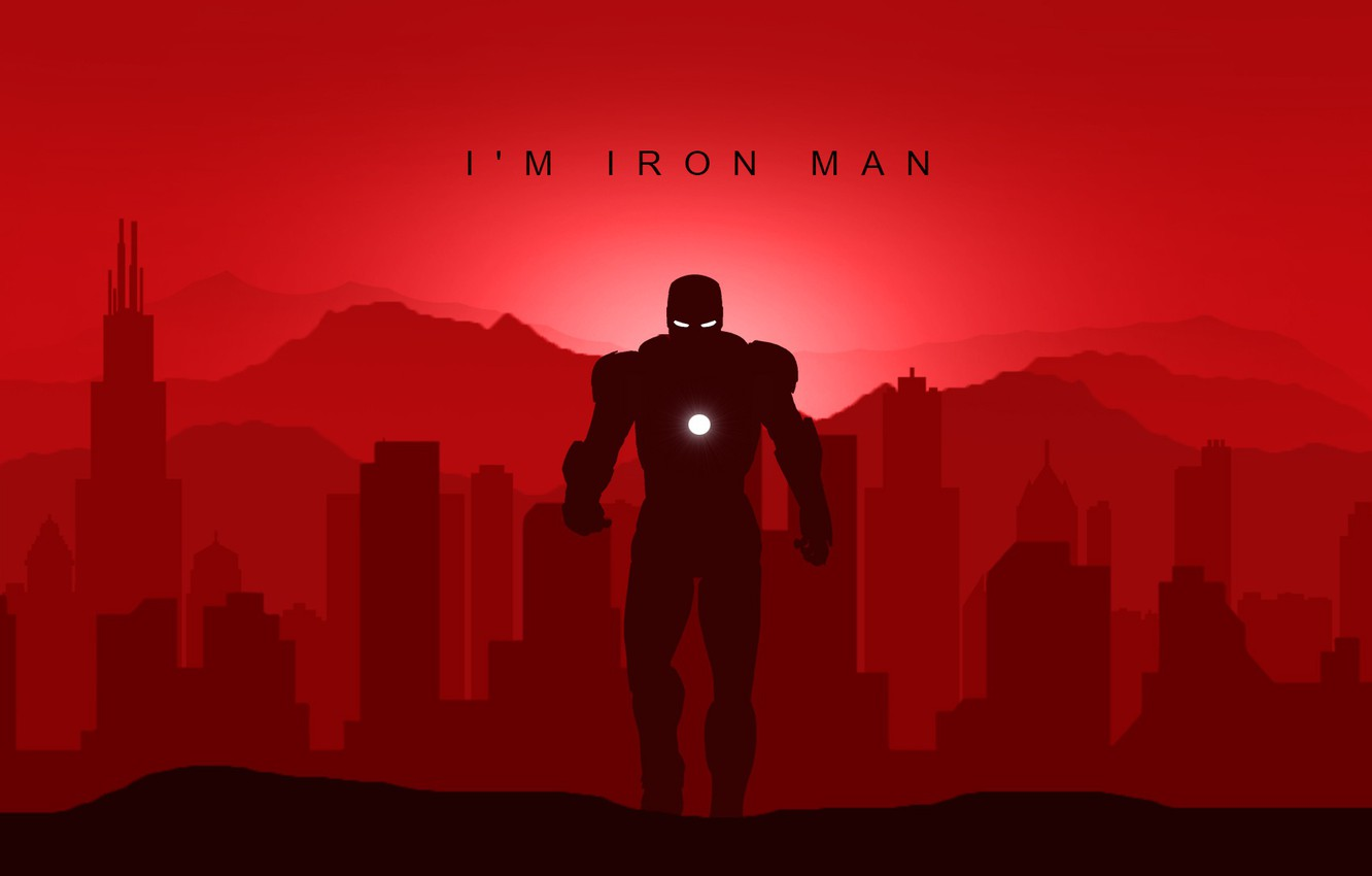Wallpaper Minimal Art Marvel Iron Man Superheroes Avengers