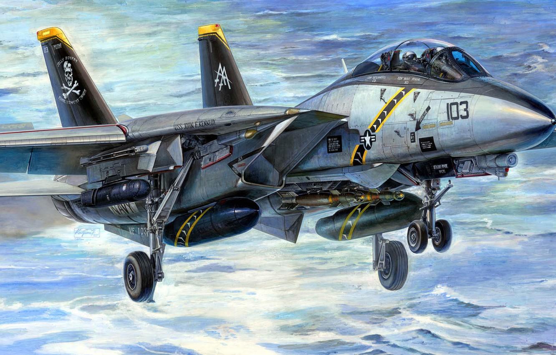Wallpaper Tomcat, the fourth generation, Grumman Aircraft