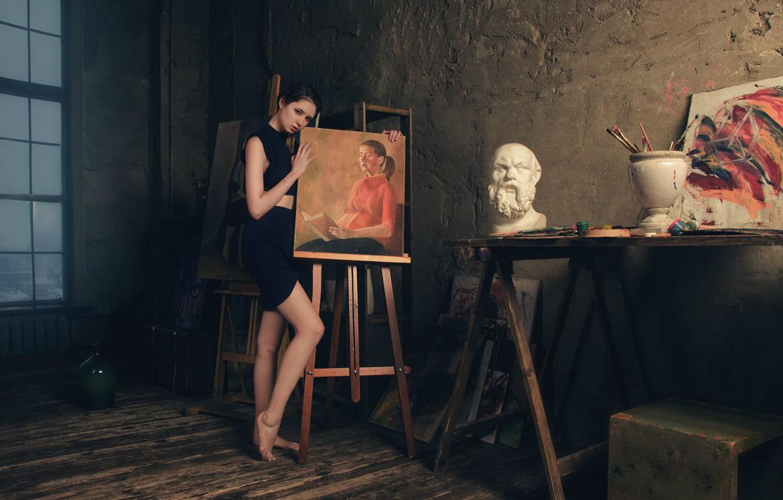 Photo wallpaper girl, picture, creativity, Diana Shemetova