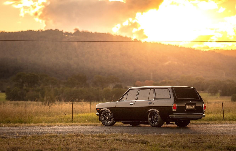 Photo wallpaper Datsun, 1972, Wagon, 1200, B210
