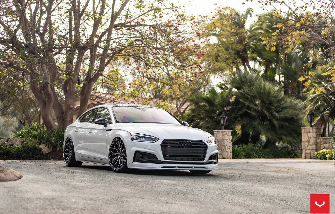 Photo wallpaper Audi, Hybrid, Forged, Sportback, Vossen, Wheels, HF-2