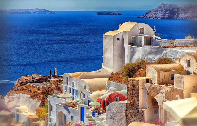 Wallpaper Sea Santorini Greece Oia Images For Desktop