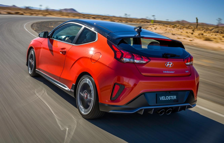 Photo wallpaper Hyundai, rear view, Turbo, Veloster, 2019